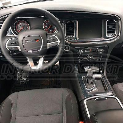 Dodge Challenger Interior >> Dodge Challenger Interior Carbon Fiber Dash Trim Kit 2015 2016 2017 2018 2019 Ebay