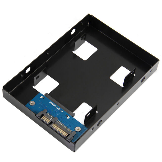 "2.5"" HDD/SSD to 3.5 Inch SATA Hard Drive Disk Converter Adapter Mounting Bracket"