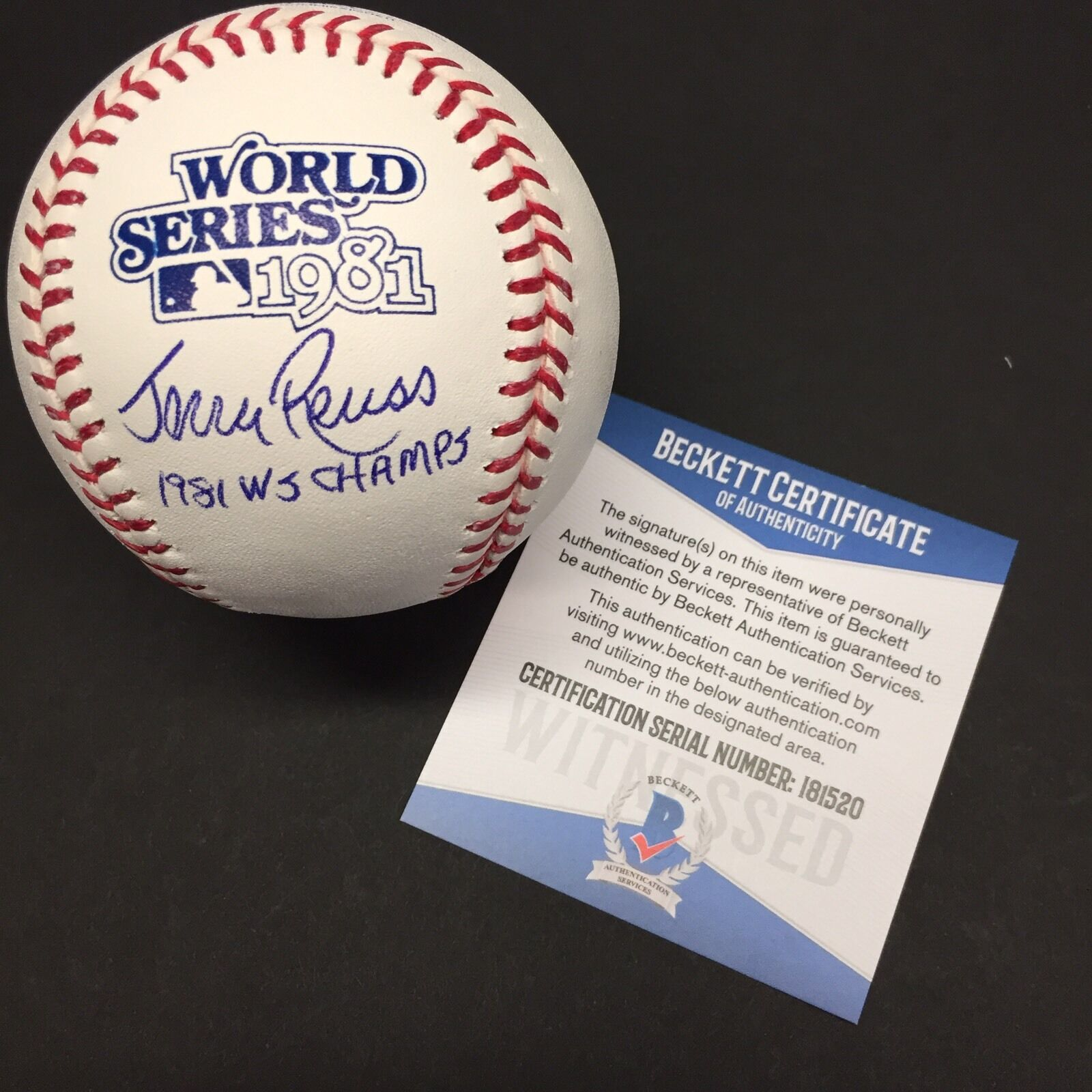 Jerry Reuss Signed 1981 World Series Baseball