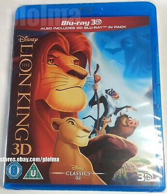 The Lion King New 3d Blu Ray And 2d 1994 Animated Disney Movie Region Free 8717418440404 Ebay