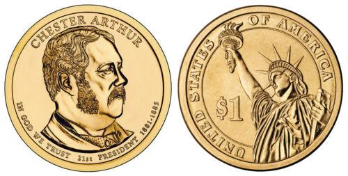 Denver Mint Rolls Money 2012 D Chester Arthur Presidential One Dollar Coin U.S