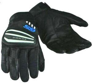 BMW Rallye 3 GS Pro style gloves, black/blue summer gloves, Size UK 10 XL 10cm