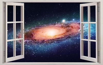Space Galaxy Interstellar Stars 3D Smashed Wall Sticker Decal Art Mural J1187