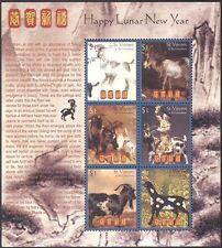 St Vincent 2003 yo Cabra/saludos/animales/Lunar Zodiac/suerte 6v m/s (n42791)