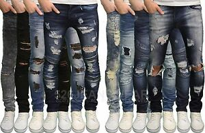 Loyalty-amp-Faith-Mens-Designer-Skinny-Fit-Distressed-Ripped-Detail-Jeans-BNWT