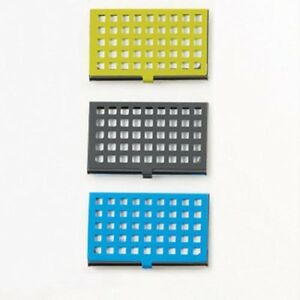 Design Ideas GRIDLOCK Identity Business//Name Card Case Choice Green,Gray or Blue