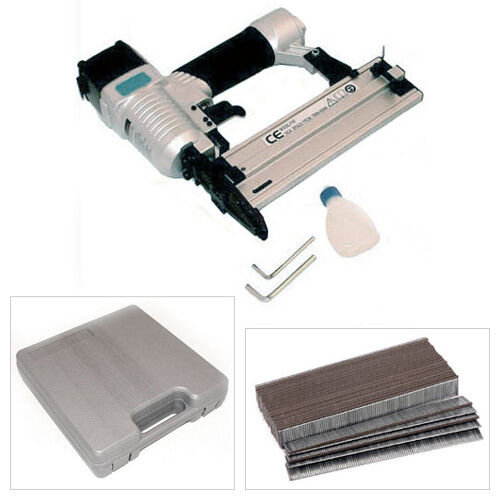 AIR NAIL NAILER STAPLER BRAD GUN CASE + CASE + 5000 NAILS FOR COMPRESSOR