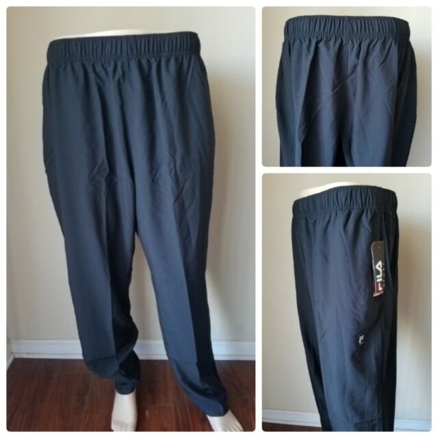 823c5c392bc6 FILA Sport Tru Dry Woven Running Pants Joggers Gym Athletic Black Tie XXL  for sale online | eBay