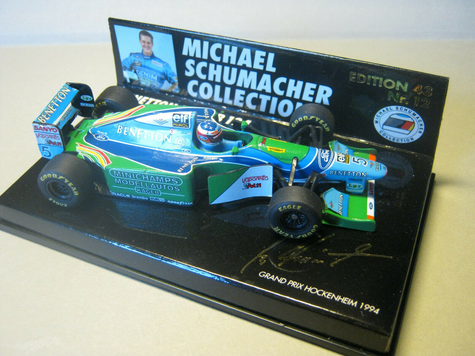 1 43 Benetton FORD b194 M. Schumacher 1994 ed. 43 GERMAN GP MINICHAMPS 510944325