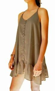 Billabong-BONDI-DRESS-Women-039-s-Dress-Rrp-60-New-Bysz-Olive