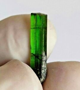 1.90ct, Natural Rare Green Tourmaline Crystal Pendant, Unique Crystal, US Seller