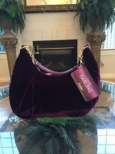 Lucky Brand Purple Velvet Purse Bag Shopping Evening Handbag