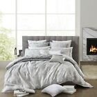 PRIVATE COLLECTION ALESSO SILVER Marble Print Queen Size Doona Quilt Cover Set