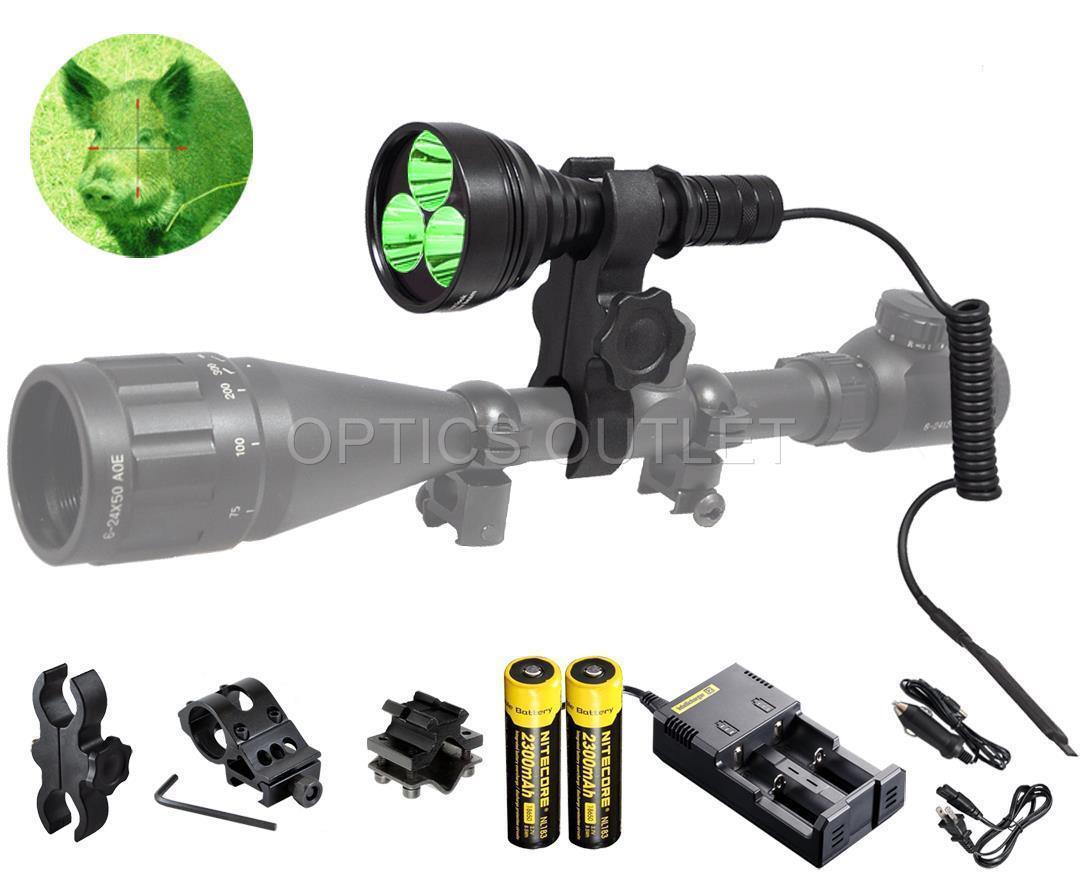 Orion m30c 700 Lumen más brillantes verde Hog Hunting-Luz Recargable Montable