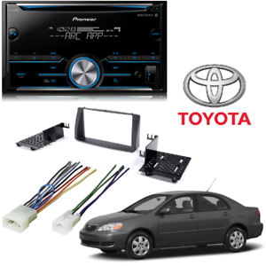 FITS 2003-2008 TOYOTA COROLLA DUAL BLUETOOTH USB AUX CAR RADIO STEREO PACKAGE