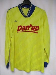 Maillot-MARLY-LE-ROI-porte-n-8-ADIDAS-vintage-annees-80-shirt-trikot-jersey-XL