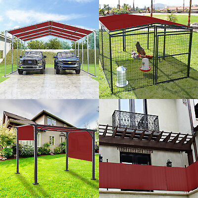 4/' FT Waterproof Straight Side Hemmed Sun Shade Sail Canopy Awning Patio Cover