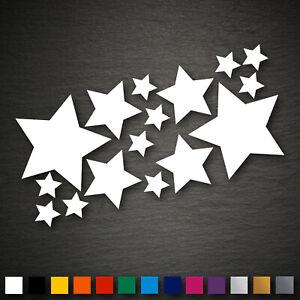 14023 étoiles Set 16 Pcs Sticker Autocollant Voiture Moto Tuning-afficher Le Titre D'origine éLéGant Dans Le Style