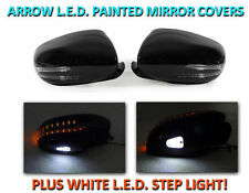 USA 07-09 W221 S Class Arrow LED Side Painted Black Mirror Cover+LED Step Light