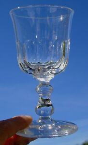 1ed7d262746fc9 Baccarat - Verre à vin blanc en cristal taillé, XIXe s. Forme tulipe ...