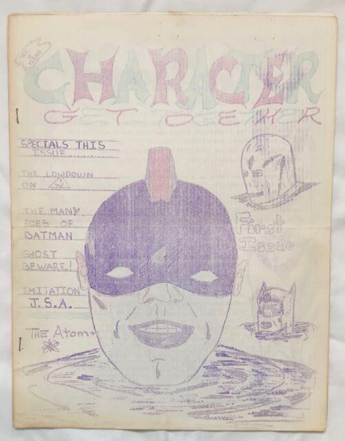 Rare Fanzine CHARACTER GET TOGETHER #1 1963 I.W./Super Comics Info, Batman