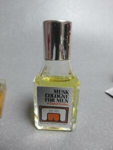 Vintage-English-Leather-Musk-Cologne-0-5-oz-Glass-Bottle-original-MEM-Co