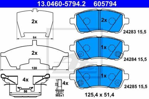 Scheibenbremse Original ATE 13.0460-5794.2 Bremsbelagsatz