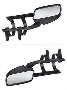 2-Caravanspiegel-Wohnwagenspiegel-Aufsetzspiegel-f-Pkw-universal-verwendbar