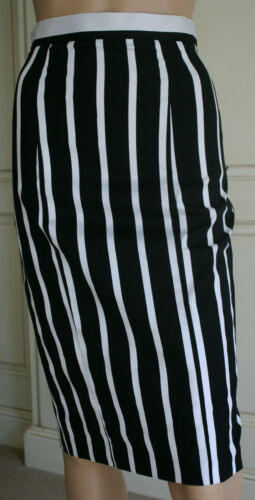 Fab Ex Store Black /& White Monochrome Pencil Skirt 8 10 12 14 16 18