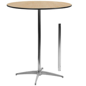 Image Is Loading 36 039 039 Round Wood Cocktail Table With