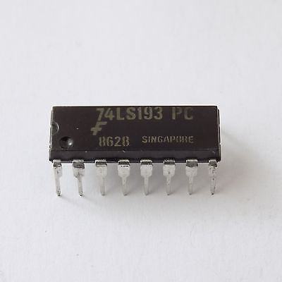 Synchronous 4-Bit Binary Up//Down Counter 4//Lot 74193 TTL 16 Pin DIP IC