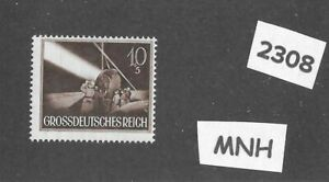 MNH stamp / 1944 /  Anti-Aircraft Search light / Military Wehrmacht WWII Germany