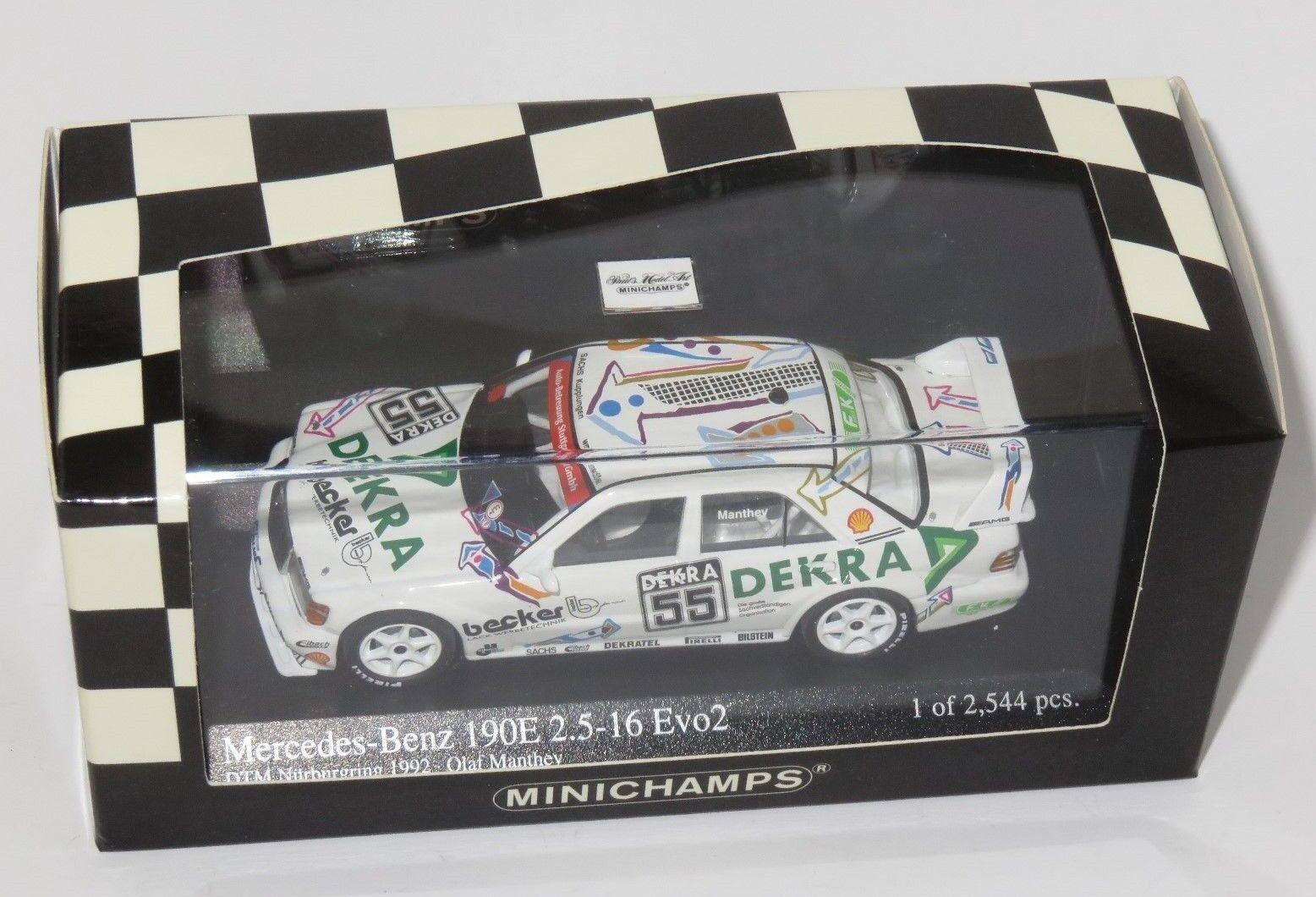 1 43 Mercedes Benz 190E 2.5-16 Evo2 Dekra DTM DTM DTM 1992 O. Manthey  55 547161