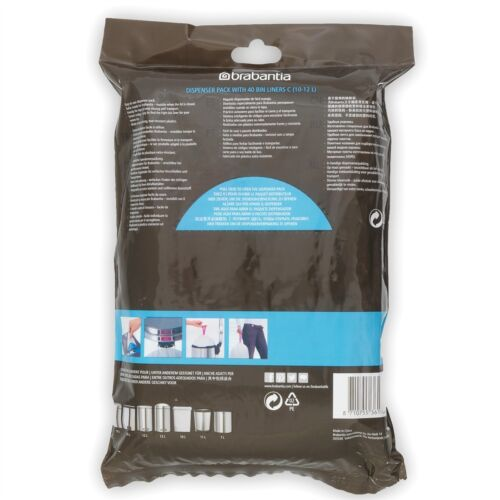 10-12 Liter Brabantia Müllbeutel Spenderverpackung 40 Mülltüten 7er Pack C