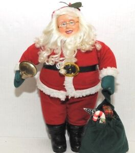 Vintage-Santa-Figure-Christmas-Rare-Collectible-Female-Mrs-Claus-Doll-15-in