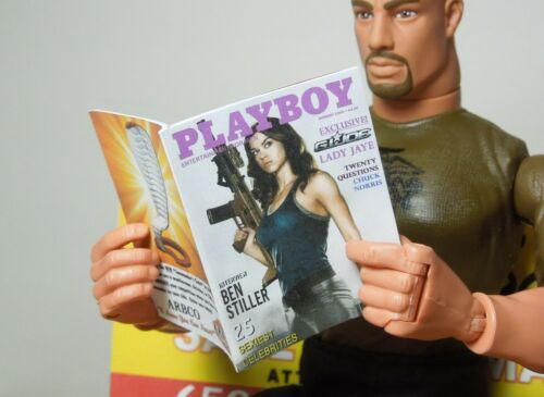 1//6 Scale Four Custom Playboy GI Joe themed includes several interior pages