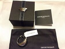 EMPORIO ARMANI EGS1590001 Men/Women's Stainless Steel Ring Size 7