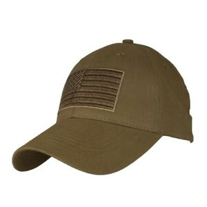 Coyote Brown US American Flag Patch United States America Baseball Hat Cap