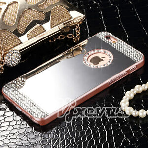 Luxury-Diamond-Mirror-Bling-Crystal-Hard-Back-Case-Skin-Cover-For-Apple-iPhone