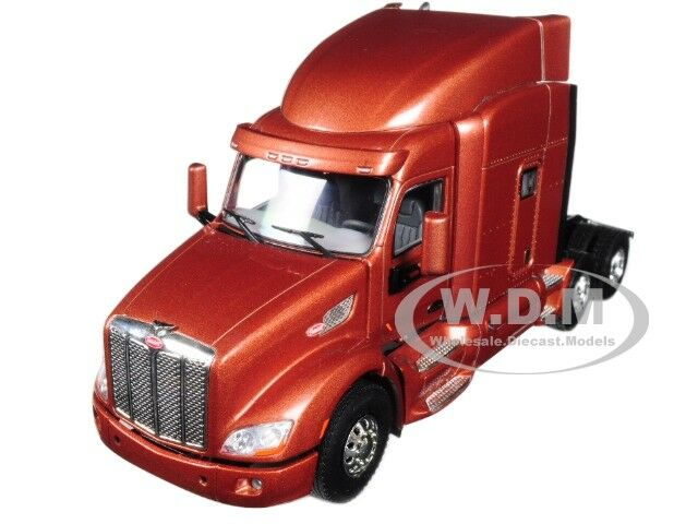 PETERBILT 579 6X4 3 AXLE SLEEPER CAB Marrone 1/50 DIECAST BY WSI MODELS 33-2024