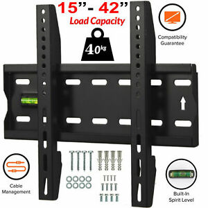 TV-Wall-Bracket-Mount-Slim-Fixed-For-15-18-20-30-32-38-40-42-Inch-LCD-LED-Plasma