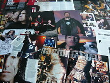 MACHINE HEAD - POSTER/MAGAZINE CUTTINGS COLLECTION (REF S1)