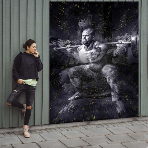 Fototapete Papier Tapete Strongman Fitnessstudio Langhaltestange Nr HS3301