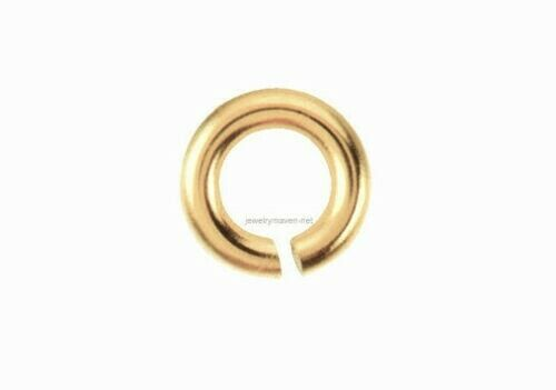 5mm 14k SOLID Yellow Gold 18ga gauge OPEN Jump Ring JewelryMaven Made in USA