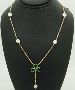 14K-Yellow-Gold-3-50ctw-Round-CZ-By-the-Yard-Heart-CZ-Clover-Lariat-Necklace-16-034