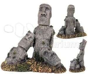 Easter island rock statue stone head ruins large polyresin for Moai fish tank