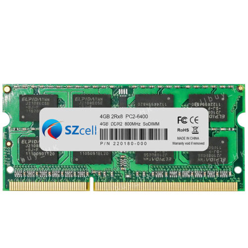 4GB 8GB 2Rx8 PC2-6400S DDR2-800 800Mhz 200 Pin SO-DIMM Notebook Memory RAM