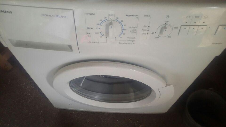 Siemens vaskemaskine, frontbetjent