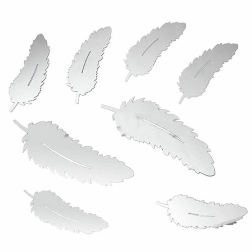 Best Feather Mirror Glass Tile Wall Stickers Decal Mosaic Room Decor Stick On UK