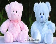 """11"""" Mini Plush Super Soft Teddy Bear Cuddly Toy Baby Girl Boy Gift with Ribbon"""